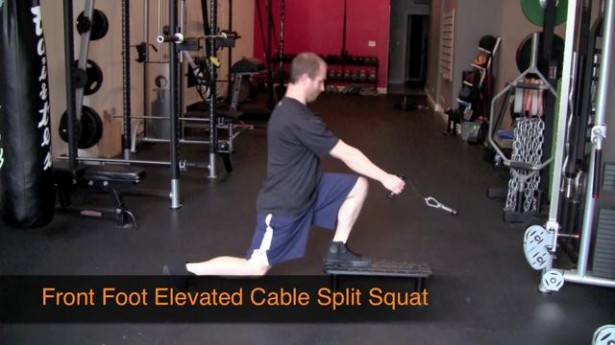 cable split squat