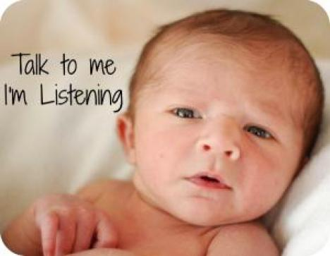 Image result for talking to baby